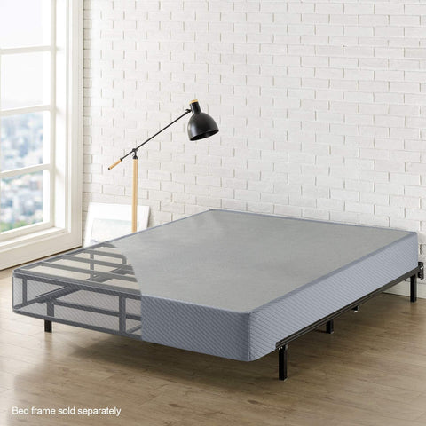 "Best Price Mattress Queen Box Spring, 9"" High Profile with Heavy Duty Steel Slat Mattress Foundation Fits Standard Bed Frame, Queen Size"