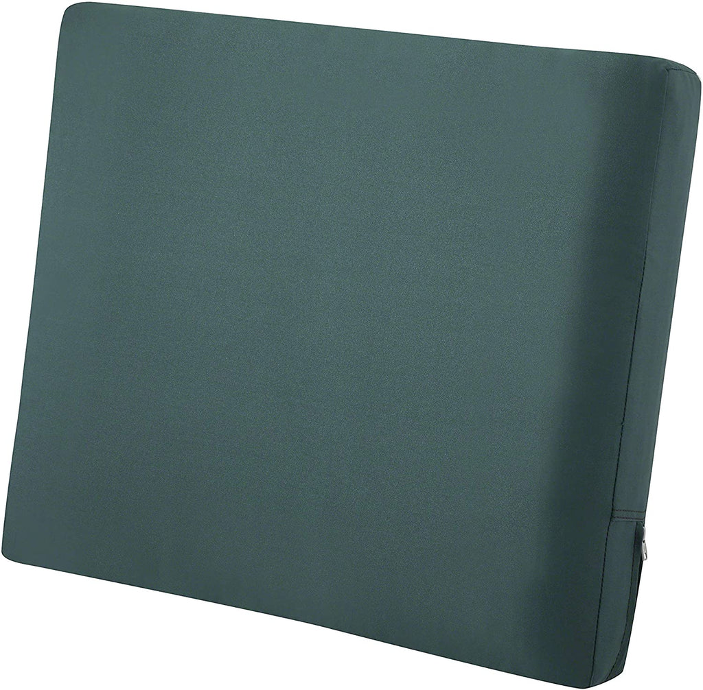 Classic Accessories Ravenna Water-Resistant 25 x 22 x 4 Inch Patio Back Cushion, Mallard Green