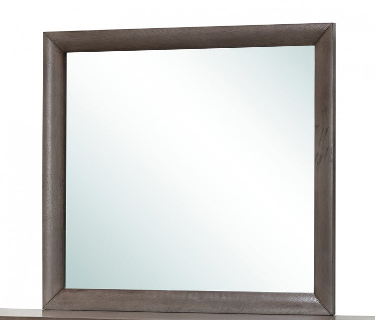 "Glory Furniture Mirror in Gray G1505-M (39"" H x 35"" W x 1"" D)"