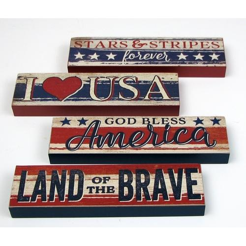 Americana Signs Set of 4