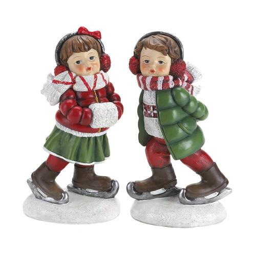 Holly & Noel Skating Figurines