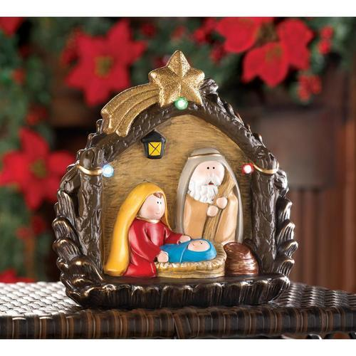 Lighted Large Nativity Figurine