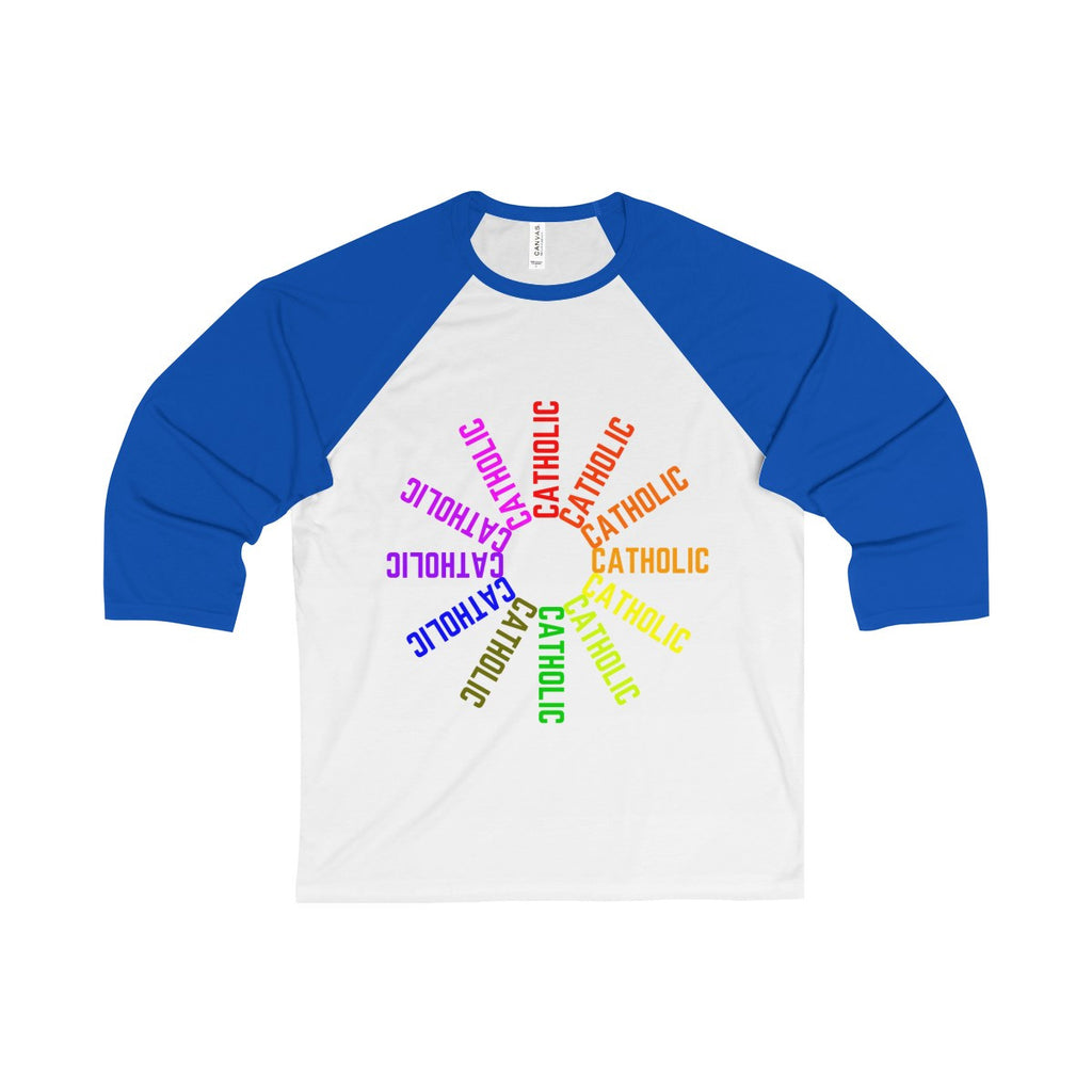 Catholic! Unisex 3/4 Sleeve Baseball Tee