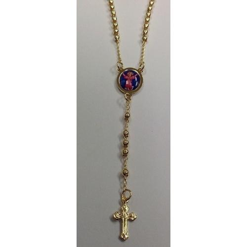 "Gold Electroplated Rosary 18""-20"" in a Red Pouch"