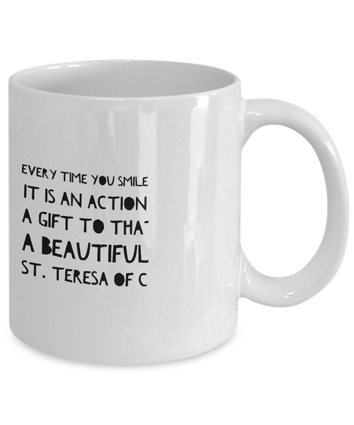Smile is Love Black Mug 2
