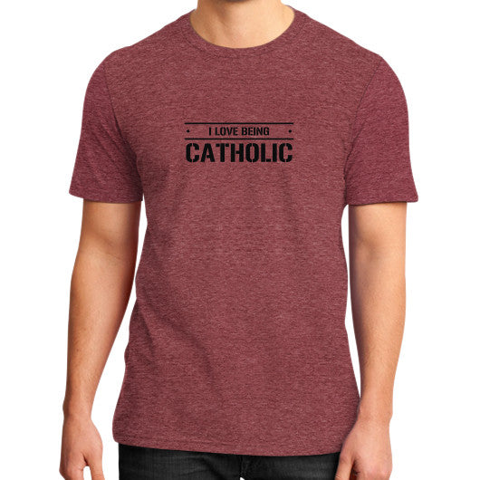 District T-Shirt (on man) Heather red iwannabeasaint