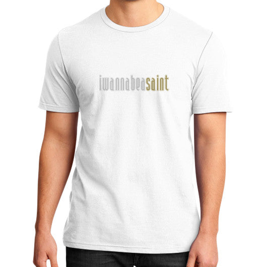 District T-Shirt (on man) White iwannabeasaint