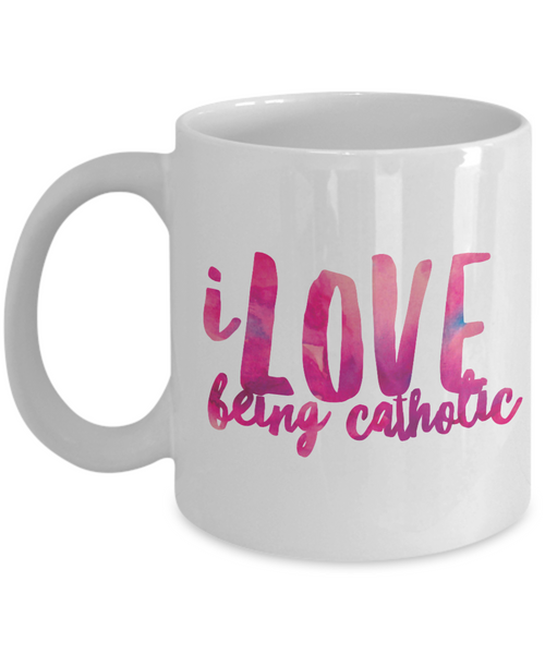 """I Love Being Catholic"" Mug"