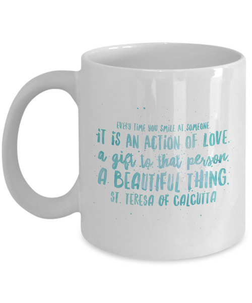 Smile is Love Blue Mug