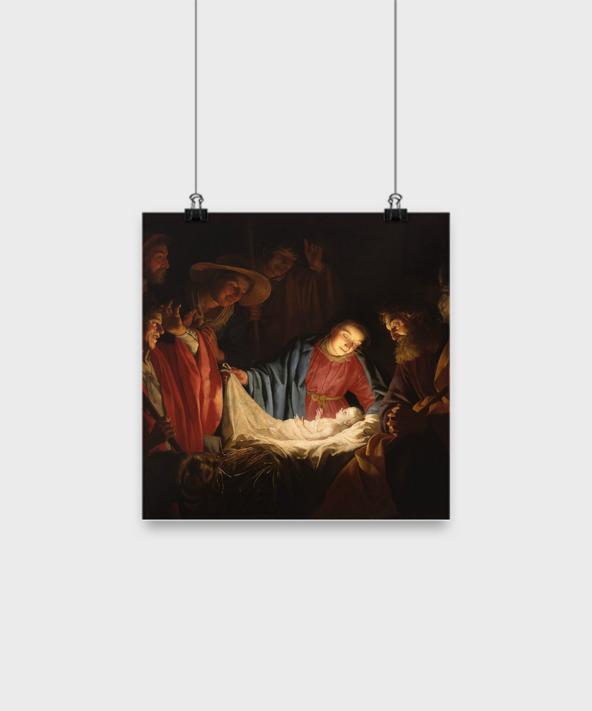 Adoration of the Christ Child Poster