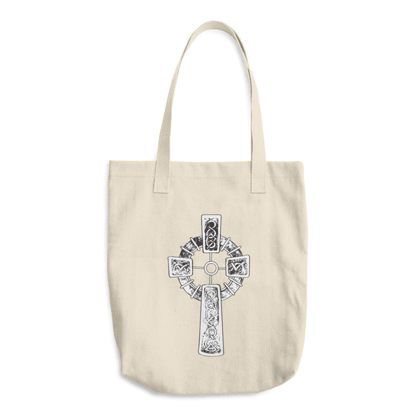 With the Cross Cotton Tote Bag