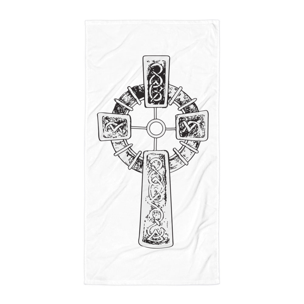 """With the Cross"" Beach Blanket"
