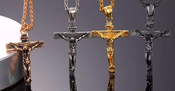 "The ""I'm Carrying Jesus"" Crucifix on a Chain Necklace"