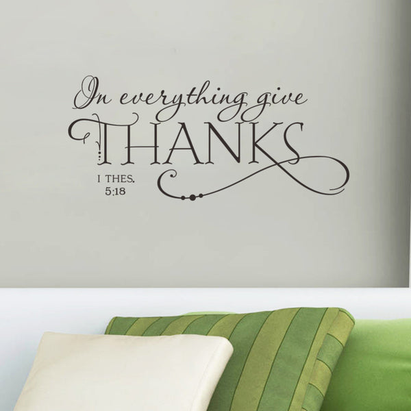 """In Everything Give Thanks"" Bible Quote Wall Art"
