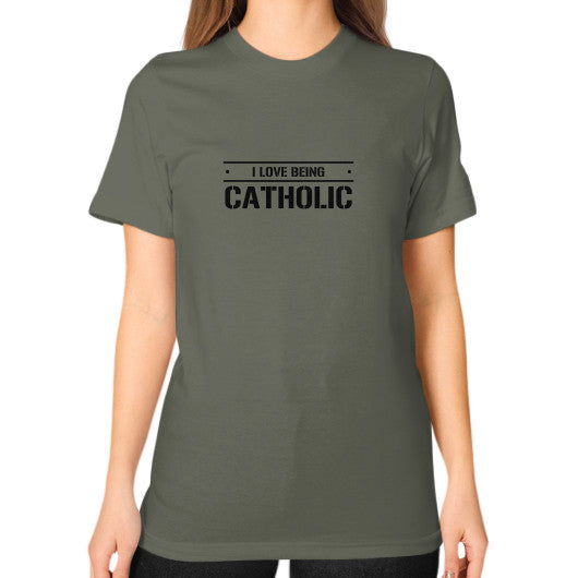 Unisex T-Shirt (on woman) Lieutenant iwannabeasaint