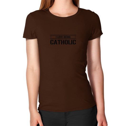 Women's T-Shirt Brown iwannabeasaint