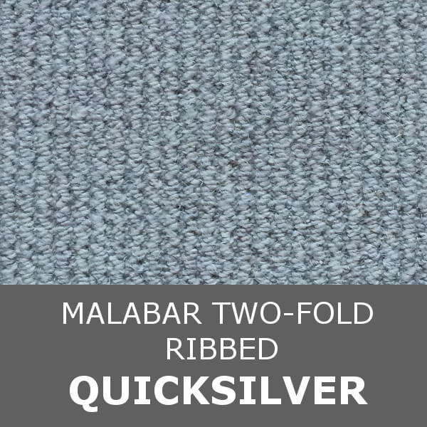 Cormar MALABAR Two-fold - Ribbed Texture - Quicksilver