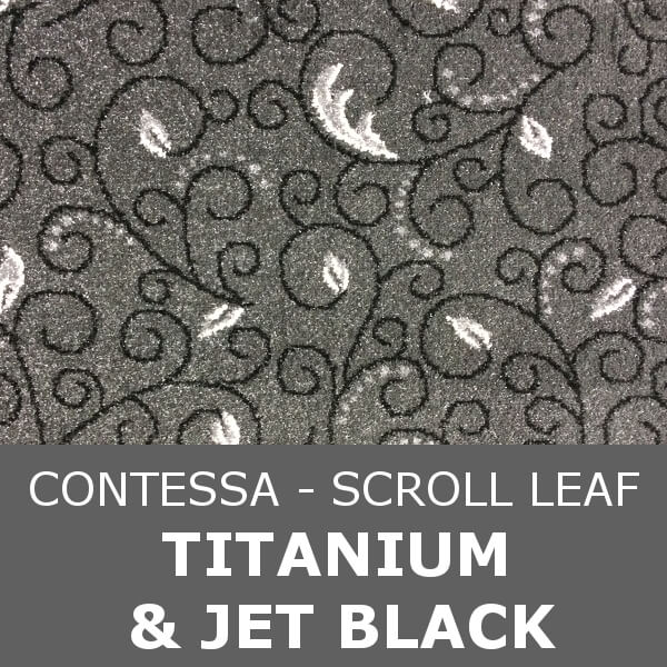 Signature - Contessa Scroll Leaf - Titanium & Jet Black