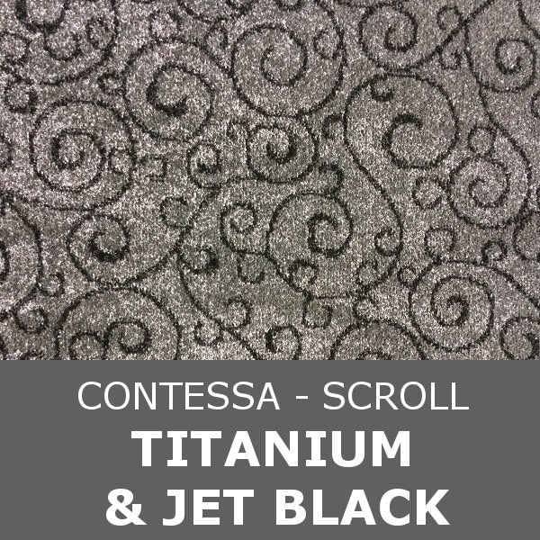 Signature - Contessa Scroll - Titanium & Jet Black