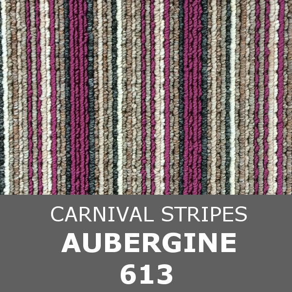 Flanagan StainTec Carnival Stripes - 613 Aubergine