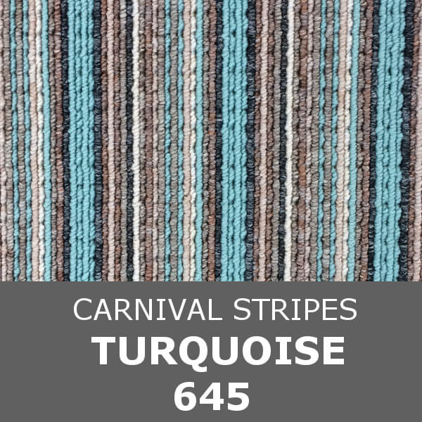 Flanagan StainTec Carnival Stripes - 645 Turquoise