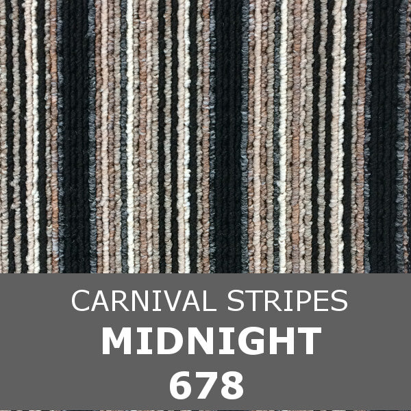 Flanagan StainTec Carnival Stripes - 678 Midnight
