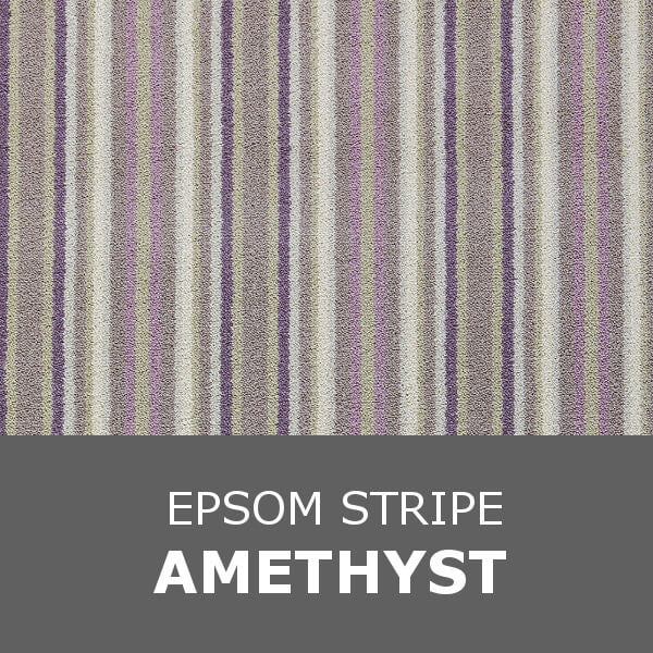 Brintons Laura Ashley Collection - Epsom Stripe - Amethyst 19/50086