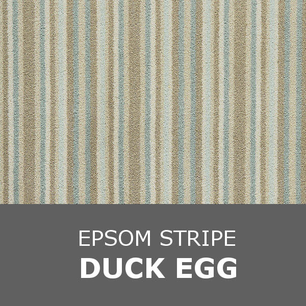 Brintons Laura Ashley Collection - Epsom Stripe - Duck Egg 4/50081