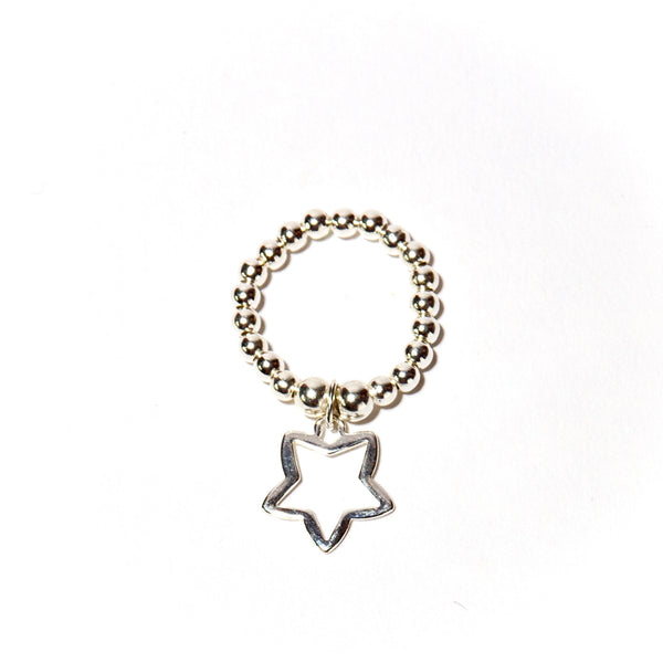 Cute sterling silver star ring