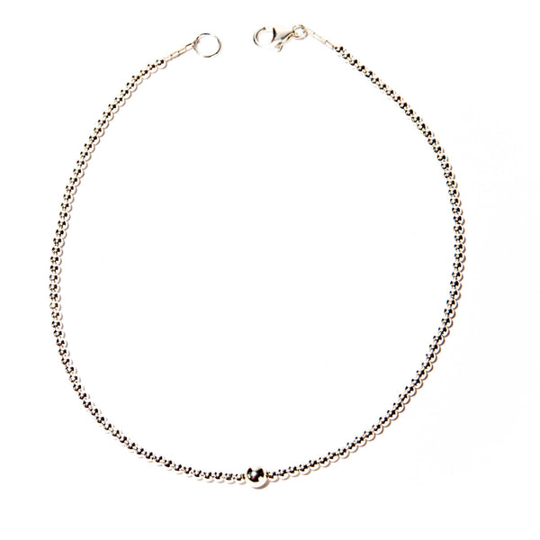 Dainty Sterling Silver Beaded Choker