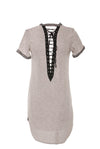 Harley T-Shirt Dress - 6IX LABEL