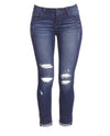 Amelia Distressed Jeans - 6IX LABEL