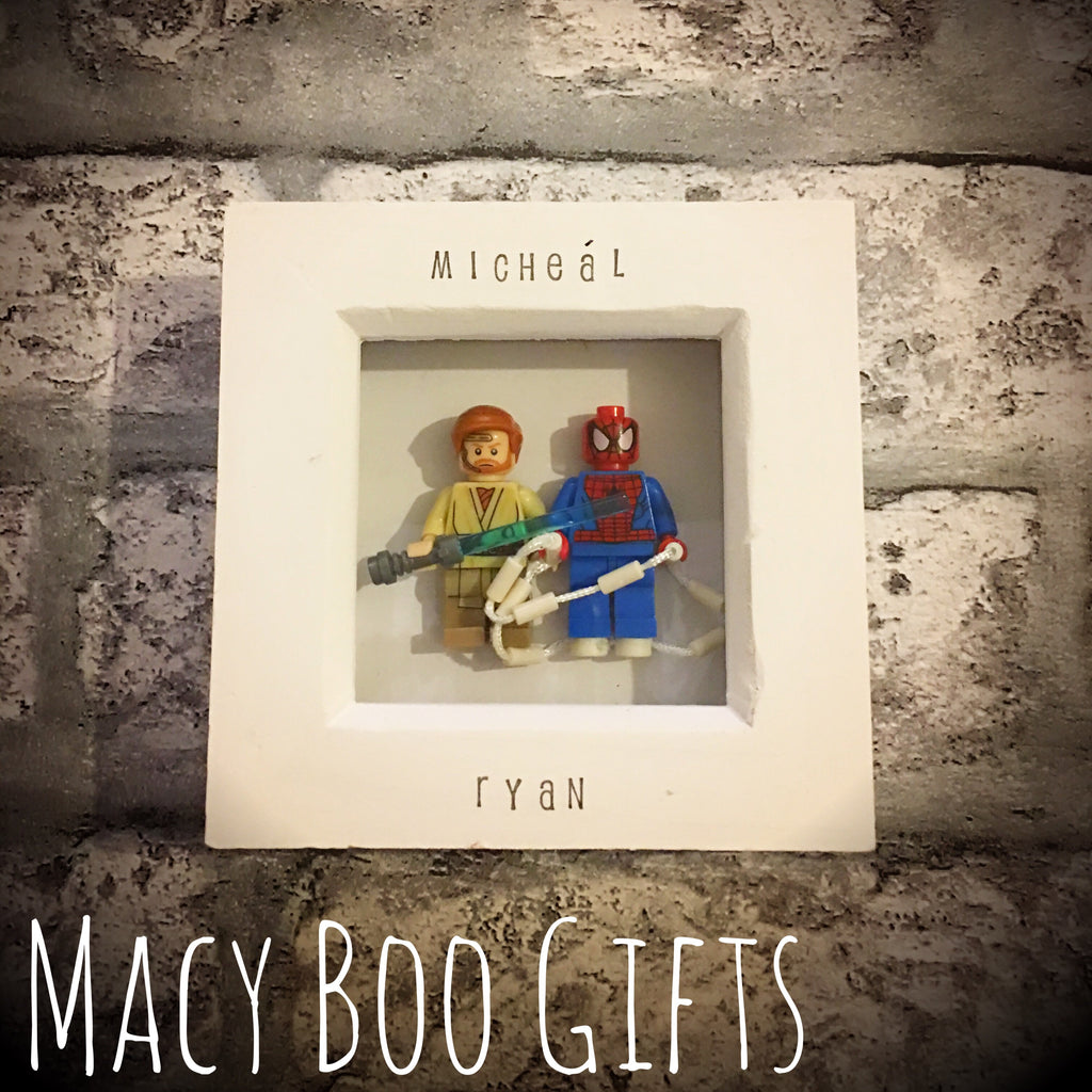 Mini Double Lego Frames *Pick Your Own Lego Duo – Macy Boo Gifts