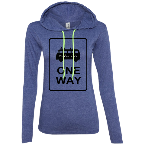 One Way - Ladies LS T-Shirt Hoodie
