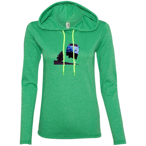 Flying Bus -  Ladies LS T-Shirt Hoodie