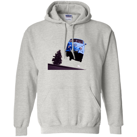 Flying Bus -  Pullover Hoodie 8 oz