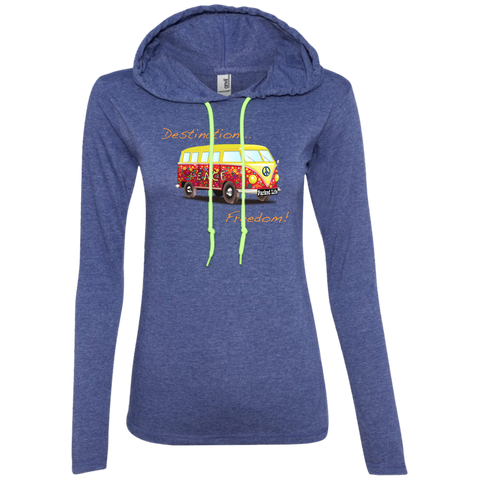 Destination Freedom - Women's LS T-Shirt Hoodie