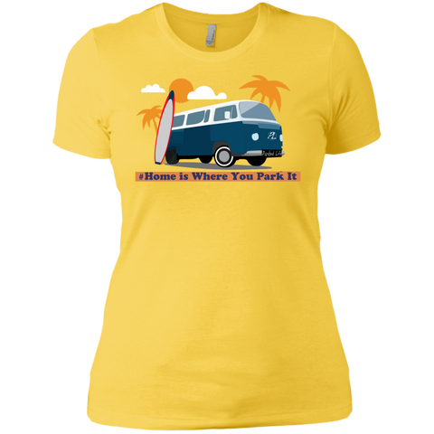 Home is Where You Park It (Surf) - Next Level Ladies' Boyfriend Tee