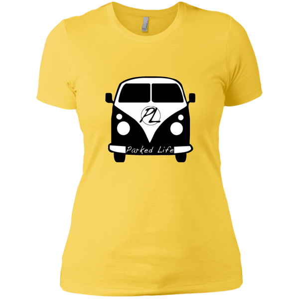 Parked Life Black - Next Level Ladies' Boyfriend Tee