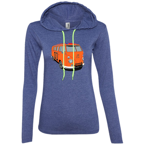 General Lee - Ladies LS T-Shirt Hoodie