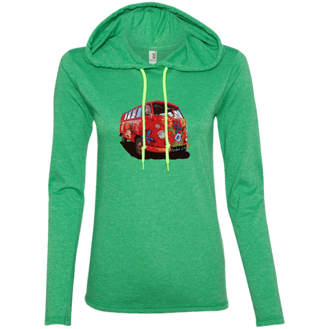 Flower Power - Ladies LS T-Shirt Hoodie