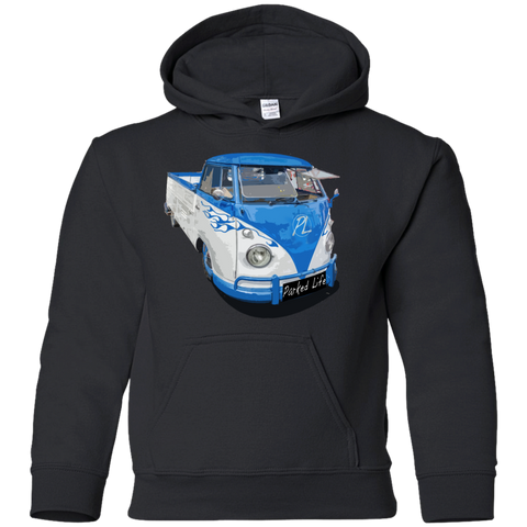 Flaming Pickup - Youth Pullover Hoodie