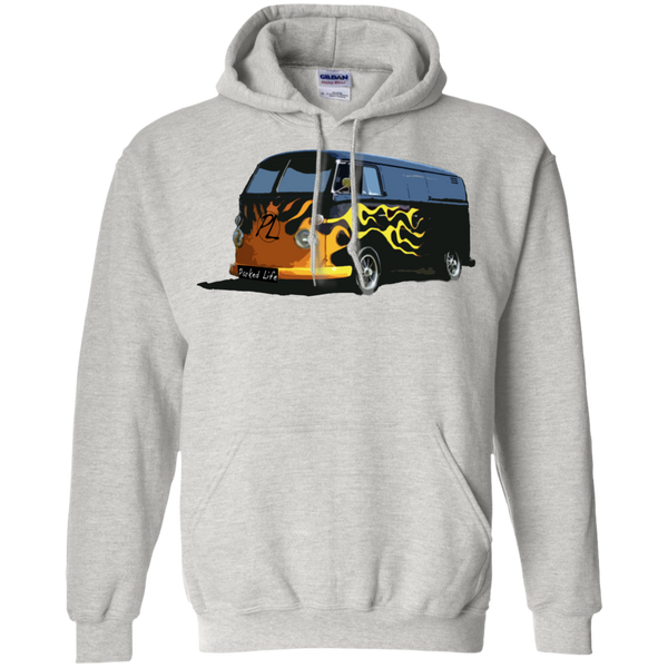 Flaming Hot - Pullover Hoodie 8 oz