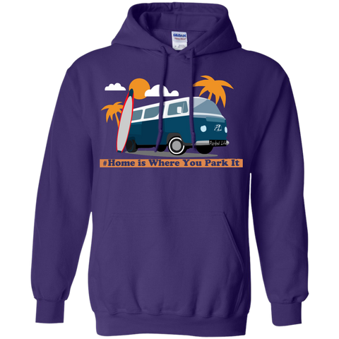 Home is Where You Park It (Surf) - Pullover Hoodie 8 oz