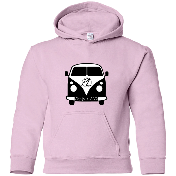 Parked Life Black - Youth Pullover Hoodie