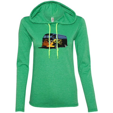 Flaming Hot - Ladies LS T-Shirt Hoodie
