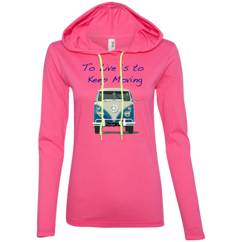 Keep Moving - Ladies LS T-Shirt Hoodie