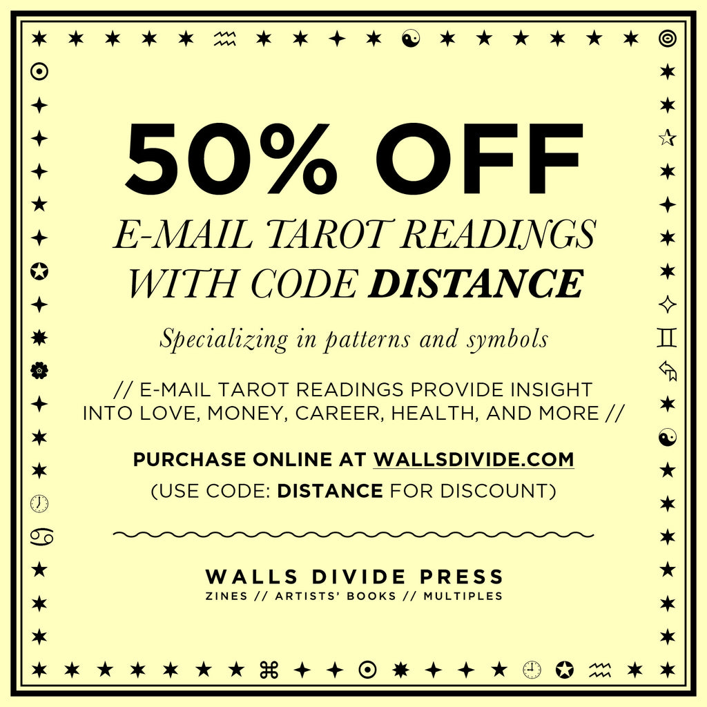 50% Off All E-Mail Tarot Readings with code DISTANCE
