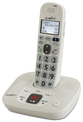 Clarity D712 Amplified Cordless Phone With Answering Machine