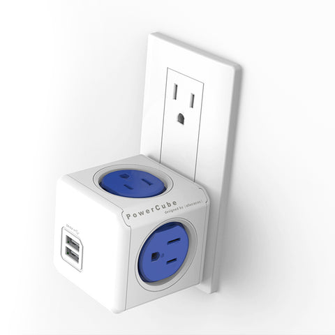 PowerCube USB 4 Outlet + 2 USB Surge Protector